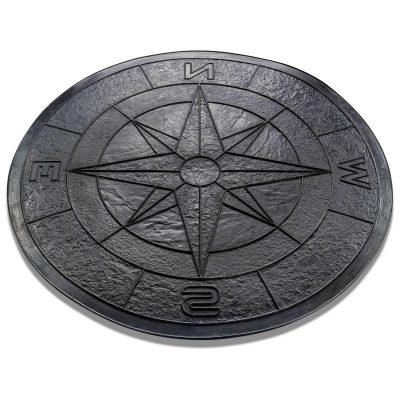 compass concrete stamp